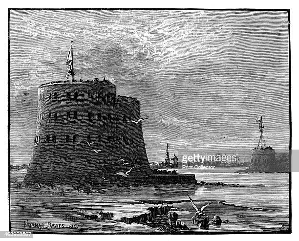 Alexander and the Peter the Great Forts Cronstadt Russia 1887 Illustration from The Life and Times of Queen Victoria Vol II by Robert Wilson