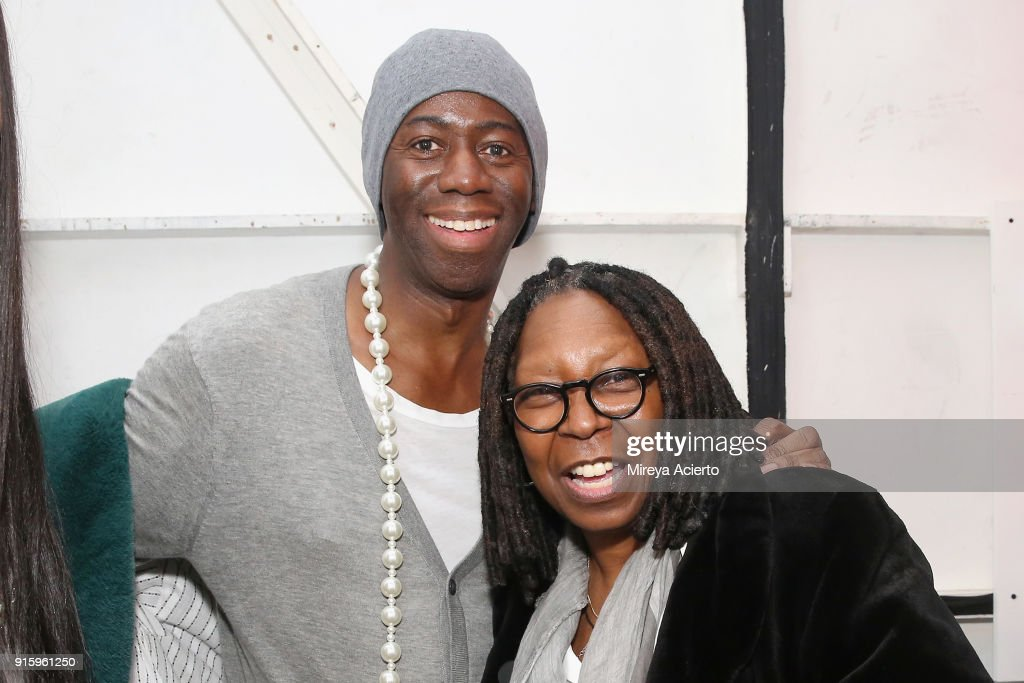 J. Alexander and Whoopi Goldberg poses backstage for Ceremony: Xuly.Bet x Mimi Prober x Hogan McLaughlin during New York Fashion Week: The Shows at Industria Studios on February 8, 2018 in New York City.