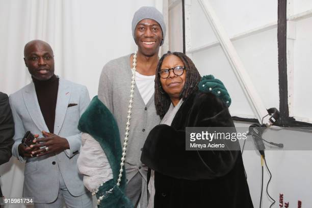 Alexander and Whoopi Goldberg poses backstage for Ceremony: Xuly.Bet x Mimi Prober x Hogan McLaughlin during New York Fashion Week: The Shows at...