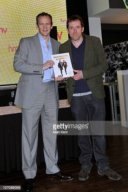 Alexander Armstrong and Ben Miller AKA TV comedy duo Armstrong and Miller promote their new book at HMV Oxford Street on November 23 2010 in London...