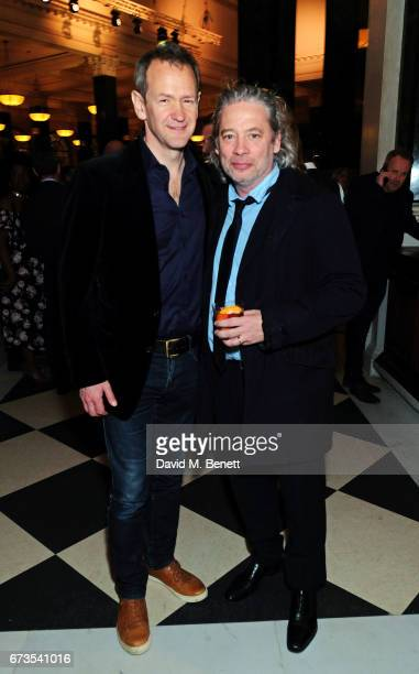 Alexander Armstrong and Dexter Fletcher attend the launch of The Ned London on April 26 2017 in London England