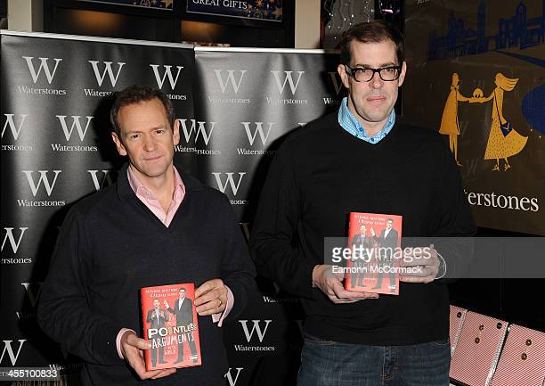 Alexander Armstrong and Richard Osman meet fans and sign copies of 'The 100 Most Pointless Arguments In The World' at Waterstones Leadenhall on...