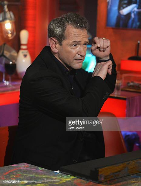 Alexander Armstrong during a live broadcast of 'TFI Friday' at the Cochrane Theatre on November 6 2015 in London England