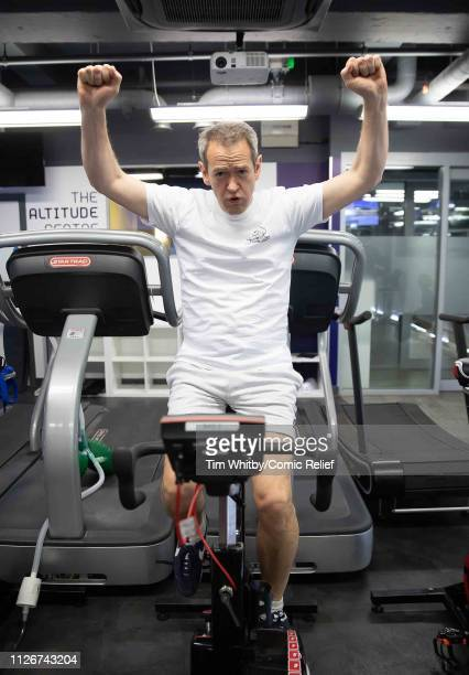 Alexander Armstrong during training for the Comic Relief Kilimanjaro climb on January 30 2019 in London England