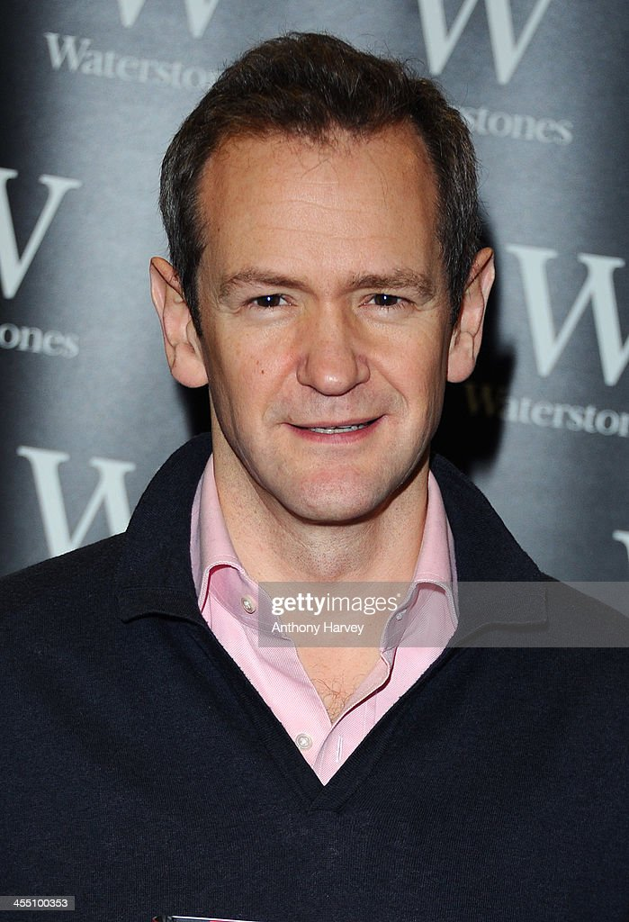 Alexander Armstrong meets fans and sign copies of 'The 100 Most Pointless Arguments In The World' at Waterstones Leadenhall on December 11, 2013 in London, England.