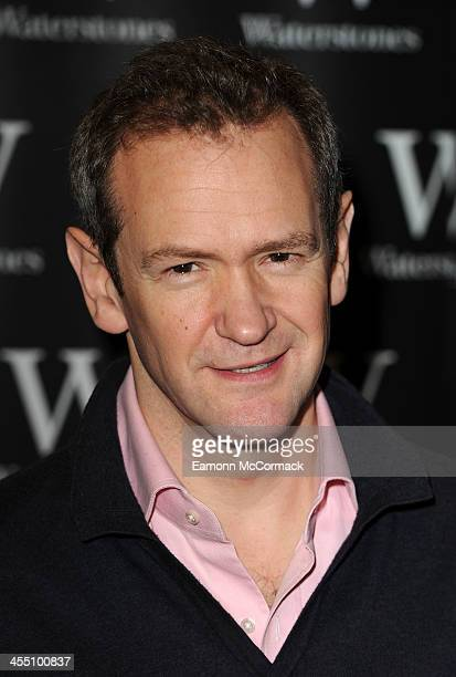 Alexander Armstrong meets fans and sign copies of 'The 100 Most Pointless Arguments In The World' at Waterstones Leadenhall on December 11 2013 in...