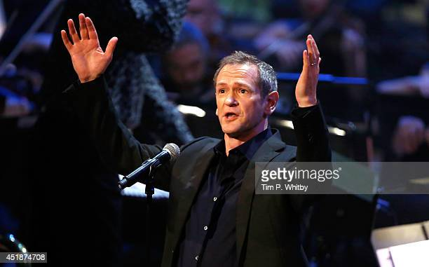 Alexander Armstrong performs at 'Tim Rice A Life In Song' at the Royal Festival Hall on July 8 2014 in London England
