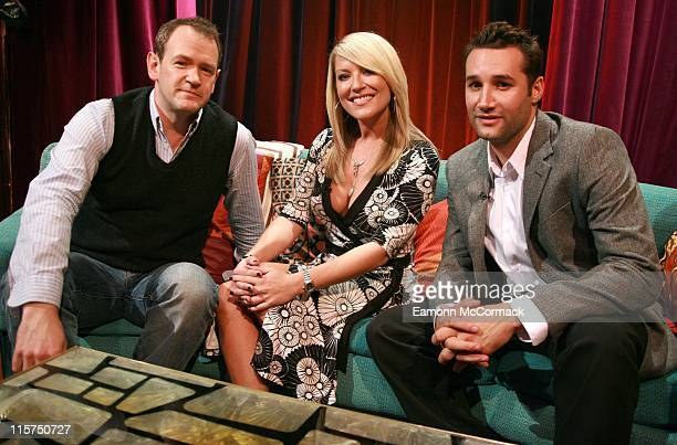 Alexander Armstrong Zoe Lucker and Dane Bowers during MTV UK's Number One Leicester Square September 6 2006 in London Great Britain