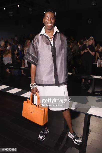 J Alexander attends the Badgley Mischka fashion show during September 2017 New York Fashion Week The Shows at Gallery 1 Skylight Clarkson Sq on...