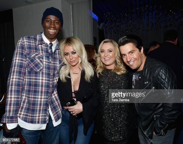 Alexander, Aubrey O'Day and Steven Grossman attend attend Steven Grossman's 40th birthday party hosted by The IE Group at STK Los Angeles on February...