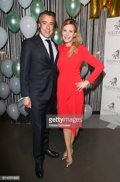 Alexander Bagusat and his wife Viola Weiss during the 5th anniversary of Westwing on October 12 2016 in Munich Germany