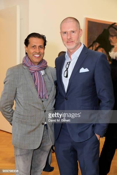 Alexander Barani and JeanDavid Malat attend Pace Gallery Celebrates Julian Schnabel at 6 Burlington Gardens on May 16 2018 in London England