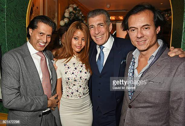 Alexander Barani Zahia Dehar Steve Varsano and Stephane Ruffier Meray attend the David Morris and Agent Provocateur drinks reception hosted by Jeremy...