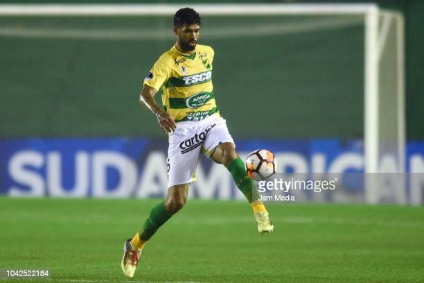 Alexander Barboza of Defensa y Justicia in action during a match between Banfield and Defensa y Justicia as part of Copa CONMEBOL Sudameriacana 2018...