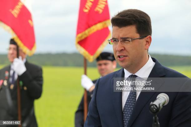 Alexander Barkov Director of the Department on the Management Affairs to the Russian Ministry of Culture delivers a speech during the inauguration...