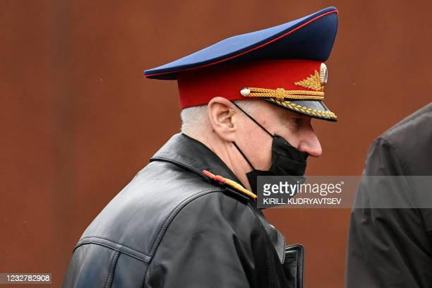Alexander Bastrykin, head of the Investigative Committee of Russia, attends the Victory Day military parade at Red Square in Moscow on May 9, 2021. -...