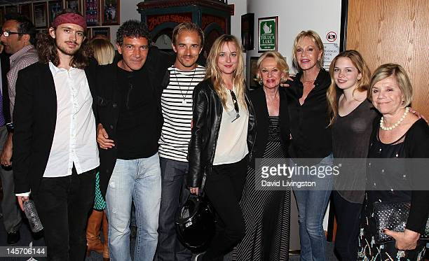 Alexander Bauer actors Antonio Banderas Jesse Johnson Dakota Johnson Tippi Hedren and Melanie Griffith Griffith's daughter Stella Banderas and Nicole...