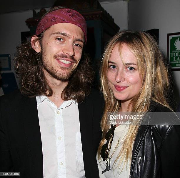 Alexander Bauer and actress Dakota Johnson attend the opening night of 'No Way Around But Through' at the Falcon Theatre on June 3 2012 in Burbank...