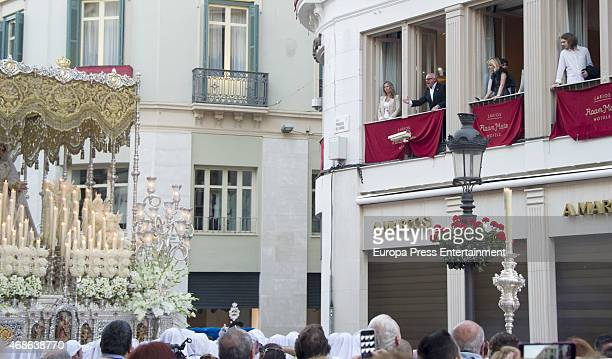 Alexander Bauer attends Holy procession during Holy Week celebration on March 31 2015 in Malaga Spain
