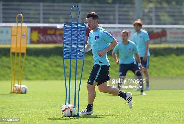 Alexander Baumjohann of Hertha BSC during the training camp in Schladming on July 20 2015 in Schladming Austria