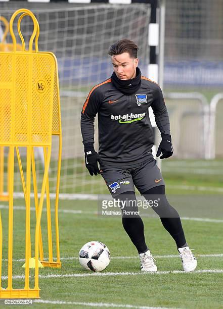 Alexander Baumjohann of Hertha BSC during the training on november 23 2016 in Berlin Germany