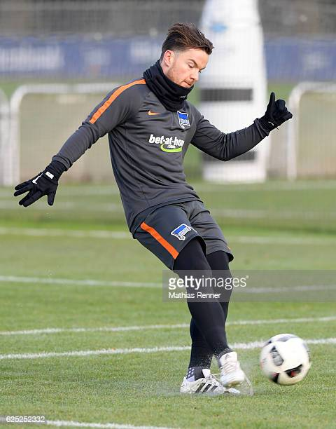 Alexander Baumjohann of Hertha BSC during the training on november 23 2016 in Berlin Germany