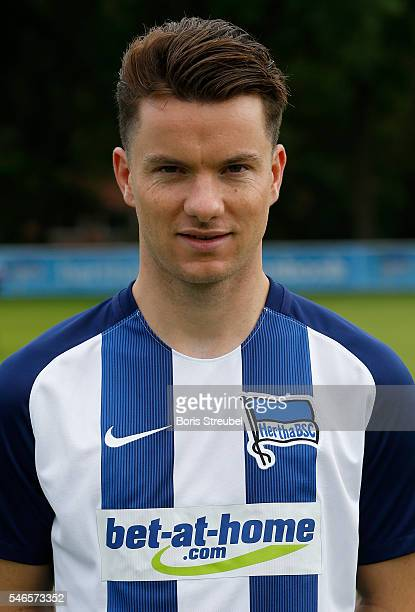 Alexander Baumjohann of Hertha BSC poses during the Hertha BSC Team Presentation on July 12 2016 in Berlin Germany