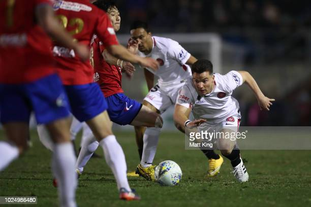 Alexander Baumjohann of the Wanderers controls the ball during the FFA Cup round of 16 match between Bonnyrigg White Eagles FC and Western Sydney...