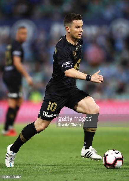 Alexander Baumjohann of the Wanderers controls the ball during the round two ALeague match between Sydney FC and the Western Sydney Wanderers at...