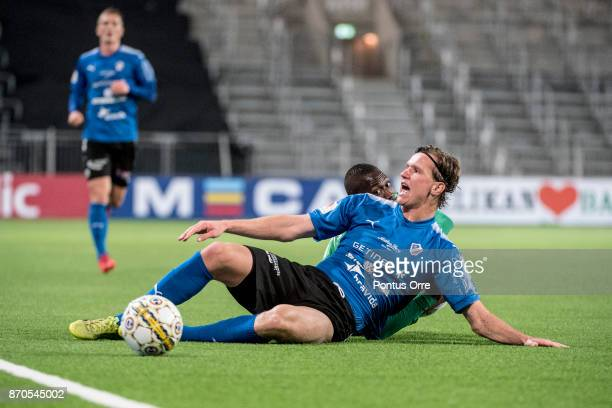Alexander Berntsson of Halmstad BK during the Allsvenskan match between Hammarby IF and Halmstad BK at Tele2 Arena on November 5 2017 in Stockholm...