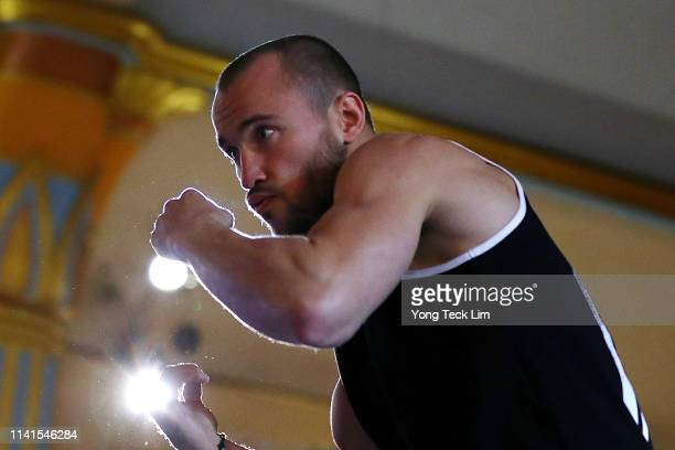 Alexander Besputin of Russia works out at Ukrainian Cultural Center on April 09 2019 in Los Angeles California