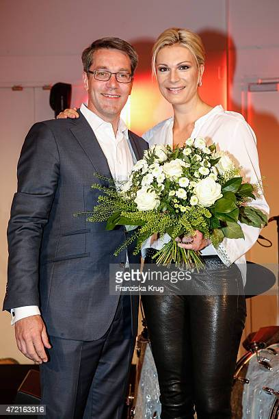 Alexander Birken and Maria HoeflRiesch attend the OTTO Exclusive Sport Cooperation celebrations on May 04 2015 in Munich Germany