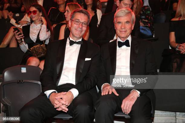 Alexander Birken CEO Otto Group and Dr Michael Otto CEO Otto Group during the 2nd ABOUT YOU Awards 2018 at Bavaria Studios on May 3 2018 in Munich...