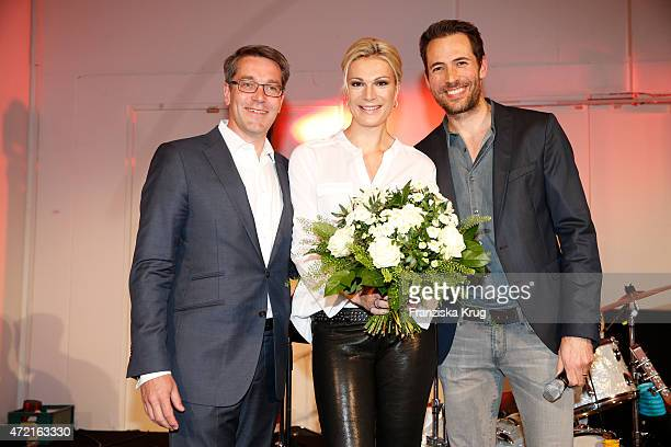Alexander Birken Maria HoeflRiesch and Alexander Mazza attend the OTTO Exclusive Sport Cooperation celebrations on May 04 2015 in Munich Germany