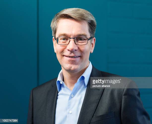 Alexander Birken the CEO of the Otto Group at a press conference at which the company released its annual financial report in Hamburg Germany 17 May...