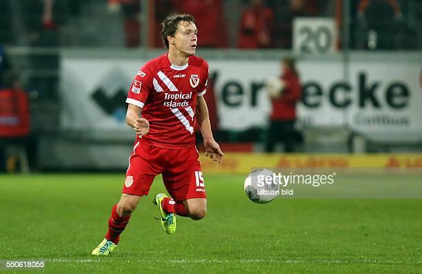 Alexander Bittroff Einzelbild Aktion FC Energie Cottbus zweite Bundesliga Sport Fußball Fussball Stadion der Freundschaft Cottbus Herren DFL Saison...
