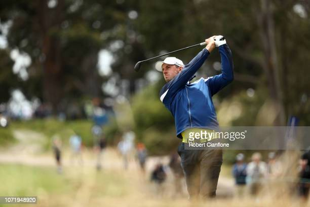 Alexander Bjork of Sweden plays a shot during day four of the 2018 World Cup of Golf at The Metropolitan on November 25 2018 in Melbourne Australia