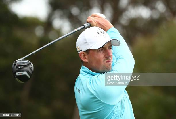 Alexander Bjork of Sweden plays a shot during day three of the 2018 World Cup of Golf at The Metropolitan on November 24 2018 in Melbourne Australia