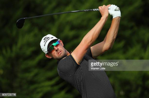 Alexander Bjork of Sweden tees off on the 10th hole during the first round of the Tshwane Open at Pretoria Country Club on March 1 2018 in Pretoria...
