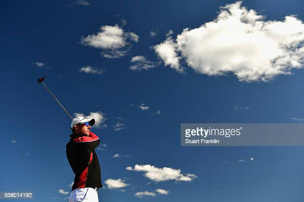 Alexander Bjork tees off during the third round on day three of The Nordea Masters at Bro Hof Slott Golf Club on June 4 2016 in Stockholm Sweden