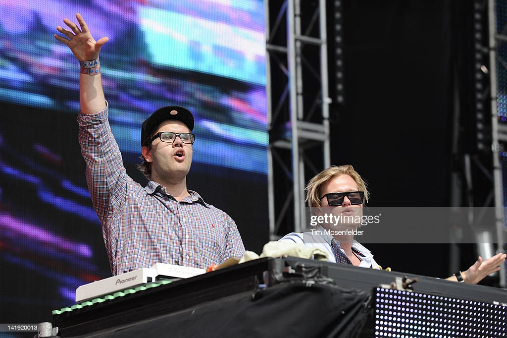 Alexander Björklund (L) and Sebastian Furrer of Cazzette perform as part of Day Three of Ultra Music Festival 14 at Bayfront Park on March 25, 2012 in Miami, Florida.