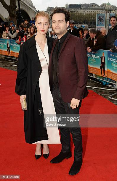 Alexander Black and a guest arrive for the UK premiere of A Hologram For The King at BFI Southbank on April 25 2016 in London England