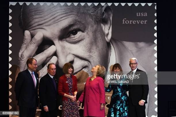 Alexander Bolen, chief executive officer, Oscar de la Renta; Former New York City Mayor Michael Bloomberg; Anna Wintour, editor in chief of Vogue;...