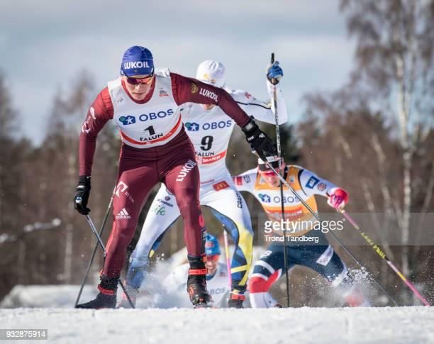Alexander Bolshunov of RUS during Men's Sprint Free at Lugnet Stadium on March 16, 2018 in Falun, Sweden.