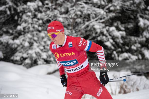 Alexander Bolshunov of Russia after Men 30 km Individual Free at Beitostoelen Skistadion on December 8 2018 in Beitostoelen Norway