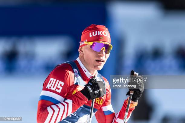Alexander Bolshunov of Russia during Tour de Ski Men 14km Sprint Free on January 1 2019 in Val Mustair Switzerland