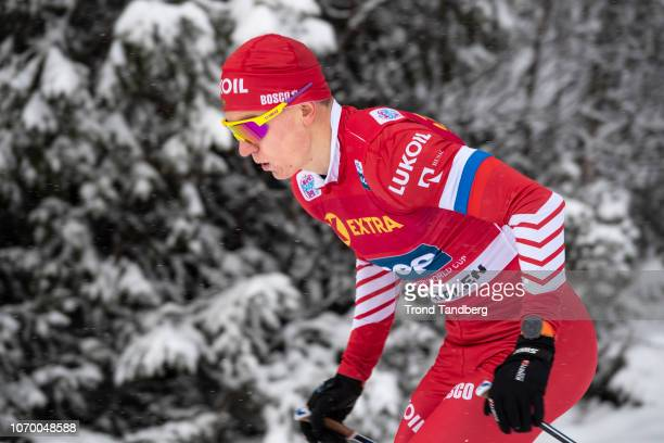 Alexander Bolshunov of Russia in action during Men 30 km Individual Free at Beitostoelen Skistadion on December 8 2018 in Beitostoelen Norway