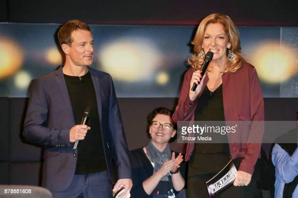 Alexander Bommes and Bettina Tietjen during the 'Tietjen und Bommes' photo call on November 24 2017 in Hanover Germany
