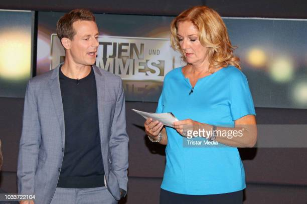 Alexander Bommes and Bettina Tietjen during the 'Tietjen und Bommes' TV show on September 15 2018 in Hanover Germany