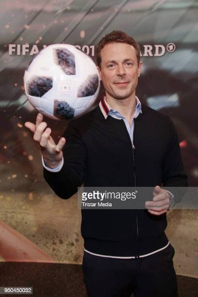Alexander Bommes during the TV programs ARD and ZDF present their team for the 2018 FIFA World Championship in Russia on April 23 2018 in Hamburg...